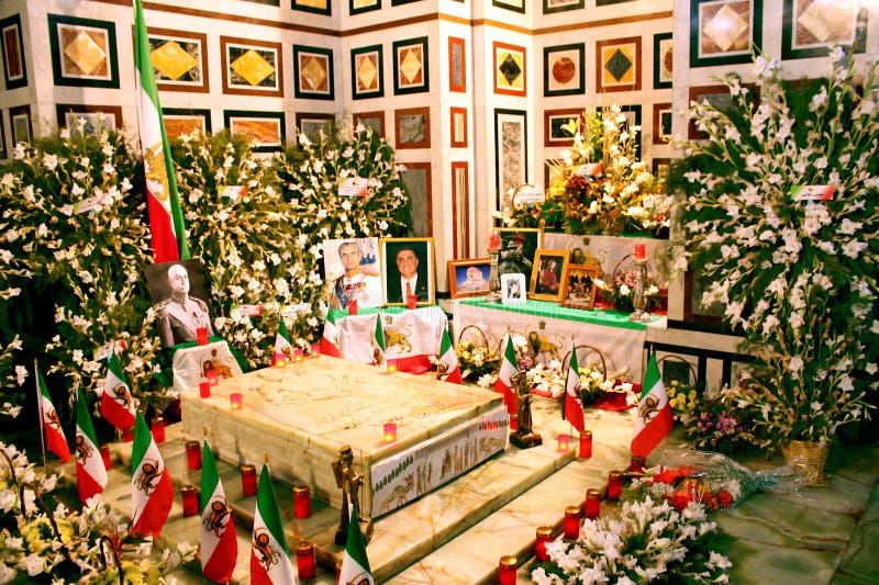 Heiligdom van de sjahpahlavi van Reza van Iran in Egypte stock foto