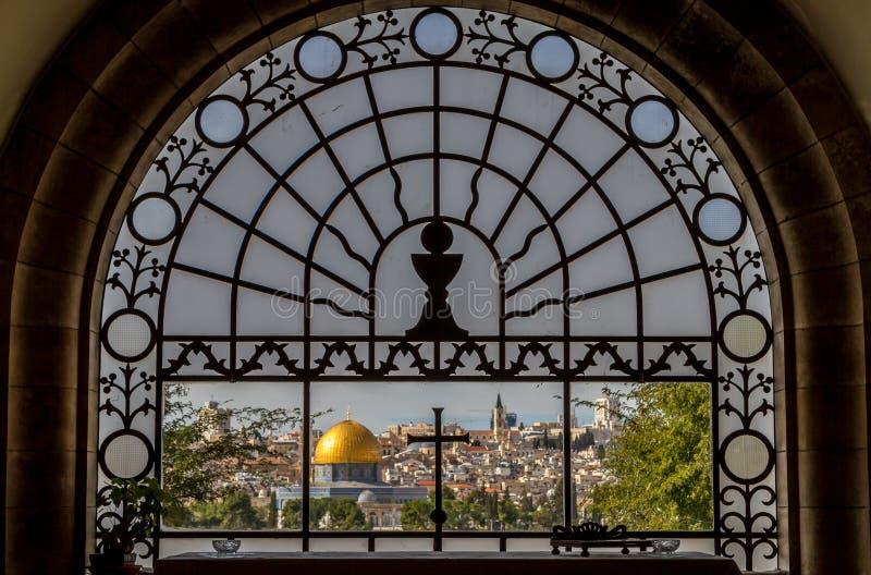 Heiligdom van Dominus Flevit, Jeruzalem royalty-vrije stock afbeeldingen