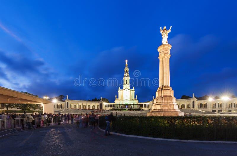 Heiligdom van Fatima stock foto's