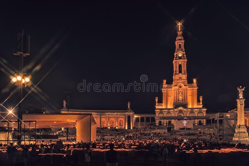 Heiligdom van Fatima, altaar van de Katholieke wereld stock afbeeldingen