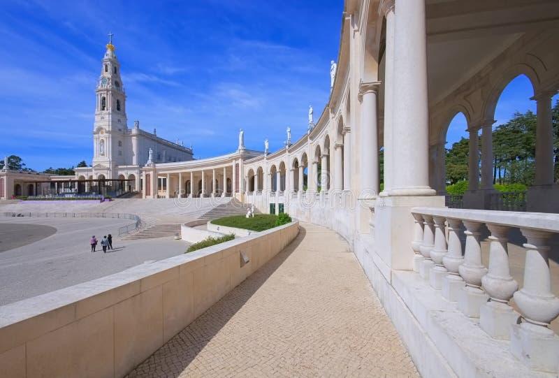 Heiligdom van Fatima in Portugal stock afbeeldingen