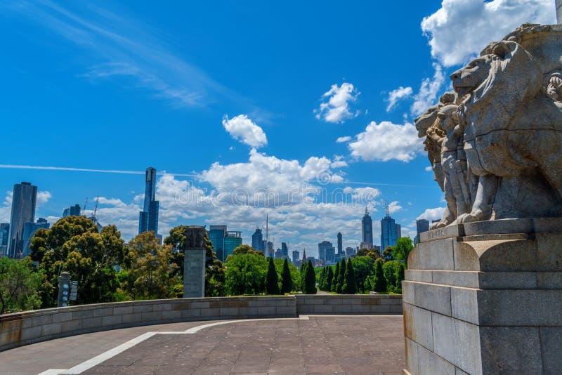 Heiligdom van herinnering en Melbourne stock afbeeldingen