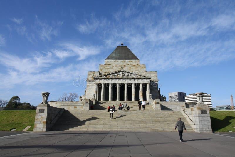 Heiligdom van Herinnering Melbourne stock fotografie
