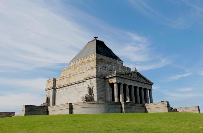Heiligdom van Herinnering in Melbourne, Australië royalty-vrije stock foto