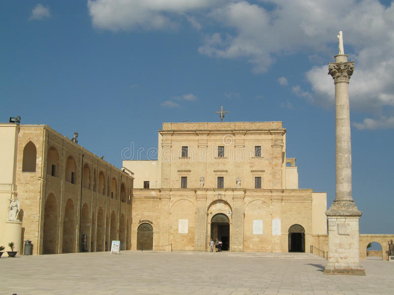 Heiligdom van Santa Maria di Leuca (Puglia - Italië) royalty-vrije stock foto's