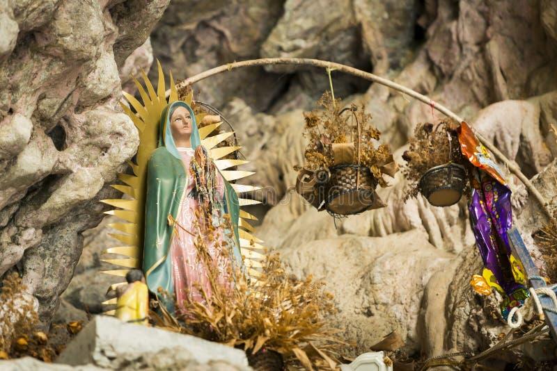 Heiligdom van Virgin van Guadalupe In Sumidero Canyon Mexico royalty-vrije stock foto's