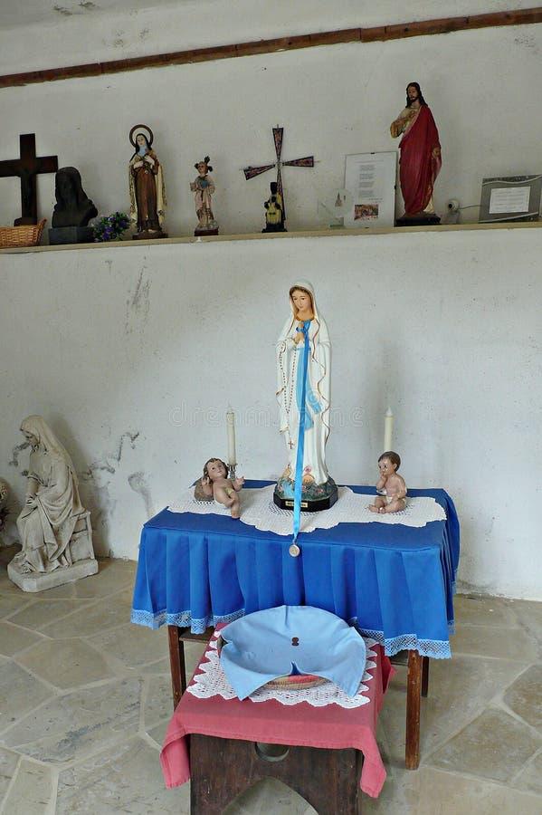 Heiligdom van Virgin van lourdes-Catalonië royalty-vrije stock fotografie