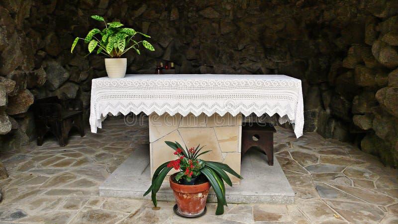 Heiligdom van Virgin van lourdes-Catalonië stock fotografie
