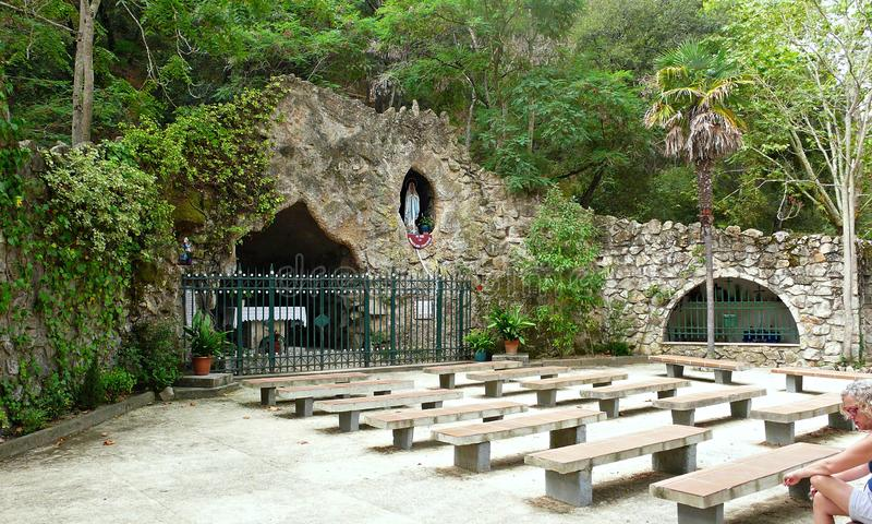 Heiligdom van Virgin van lourdes-Catalonië stock foto