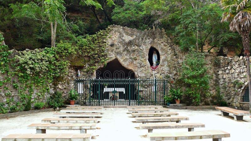 Heiligdom van Virgin van lourdes-Catalonië stock afbeelding