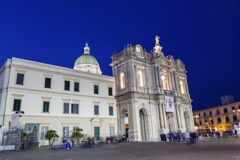 Heiligdom van Virgin van de Rozentuin van Pompei royalty-vrije stock fotografie