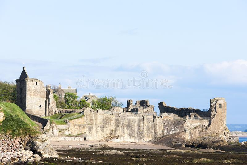 Heilige Andrews Castle, Fife, Schotland royalty-vrije stock afbeelding