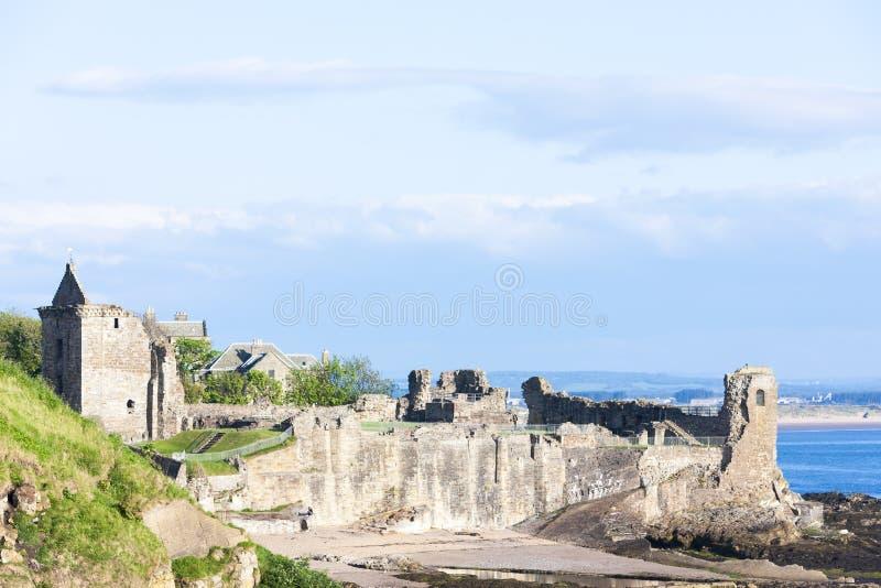 Heilige Andrews Castle, Fife, Schotland stock afbeeldingen