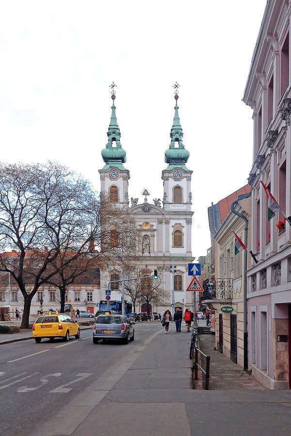 Heilige Anne Church in Boedapest, Hongarije royalty-vrije stock foto's