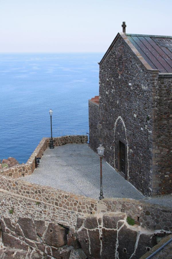 Heilige Anthony abt Castelsardo (Sardinige - Italië) royalty-vrije stock fotografie