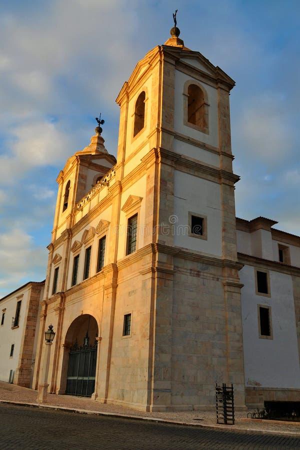 Heilige Augustine Convent bij schemer stock fotografie