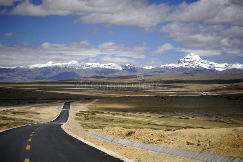 Heilige berg in Tibet - zet Kailash op stock afbeelding
