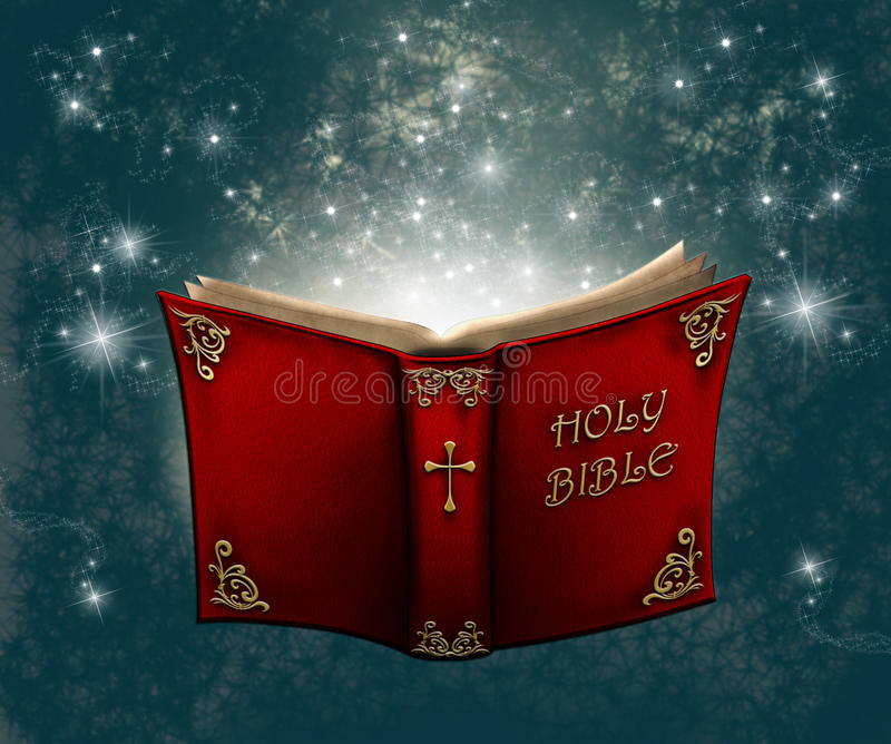 Heilige Bijbel royalty-vrije illustratie