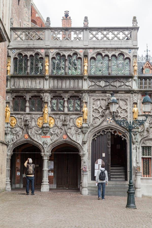 Heilige Bloedbasiliek Brugge België stock foto