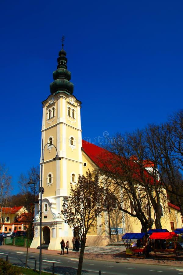 Heilige Catherine Church, Lendava, Slovenië stock afbeelding