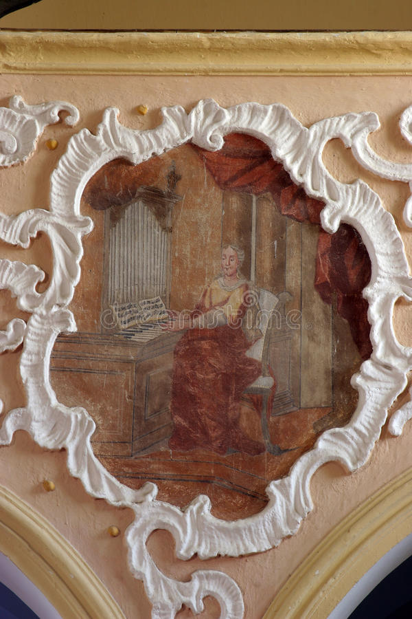 Heilige Cecilia royalty-vrije stock fotografie
