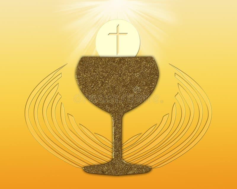 Heilige Communie royalty-vrije illustratie