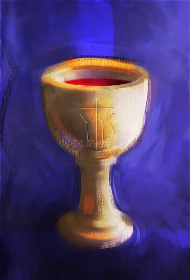 Heilige Communiekop royalty-vrije illustratie