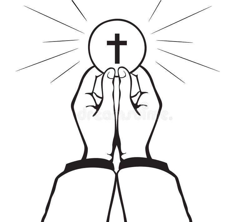 Heilige Communievector royalty-vrije illustratie