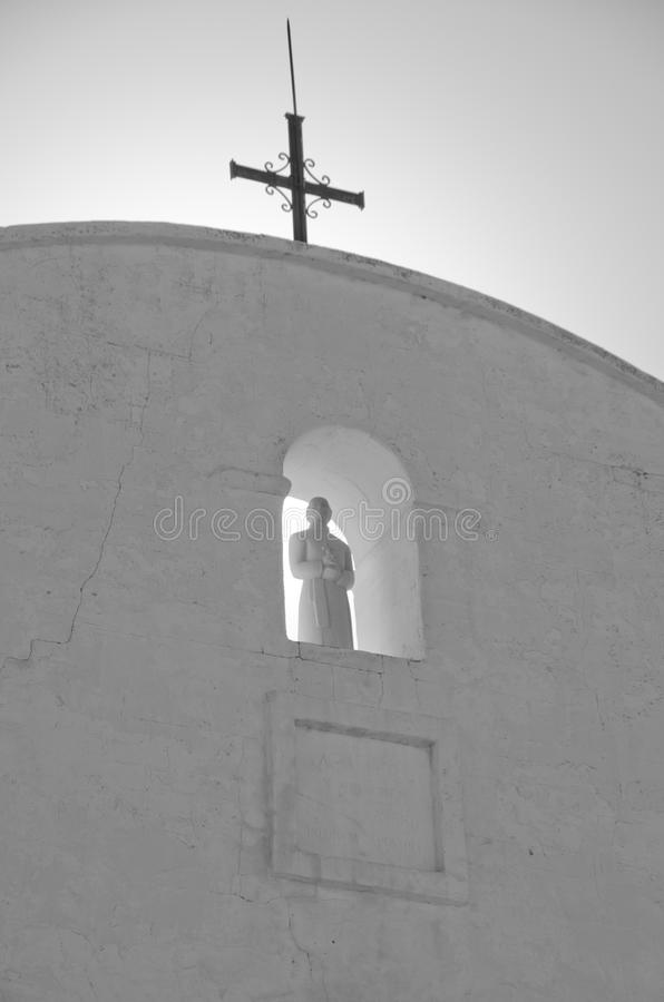 Heilige die San Xavier del Bac Mission overzien stock afbeelding