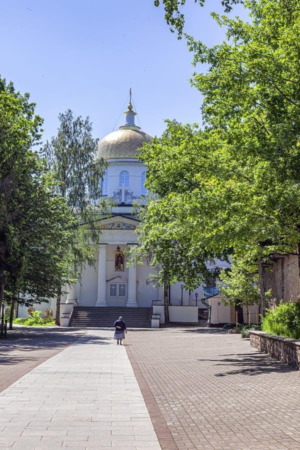 Heilige Dormition Pskovo-Pechersky Kloster Pskov-Höhlen Kloster Kathedrale des Erzengels Michael lizenzfreies stockfoto