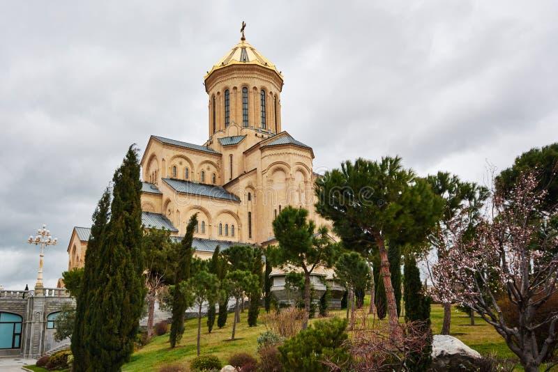 Heilige Dreiheit-Kathedrale von Tbilisi lizenzfreie stockfotografie