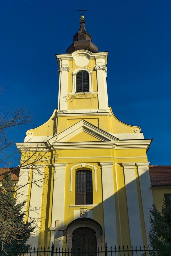 Heilige Drievuldigheids katholieke kerk in Sremski Karlovci, Servië royalty-vrije stock foto