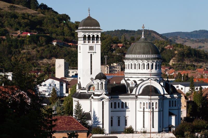 Heilige Drievuldigheidskerk in Sighisoara in Roemenië stock afbeelding