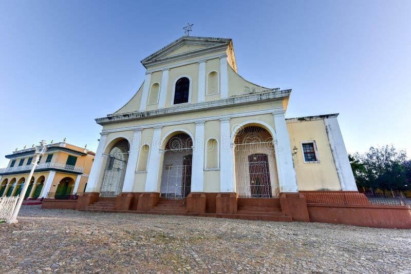 Heilige Drievuldigheidskerk - Trinidad, Cuba stock foto