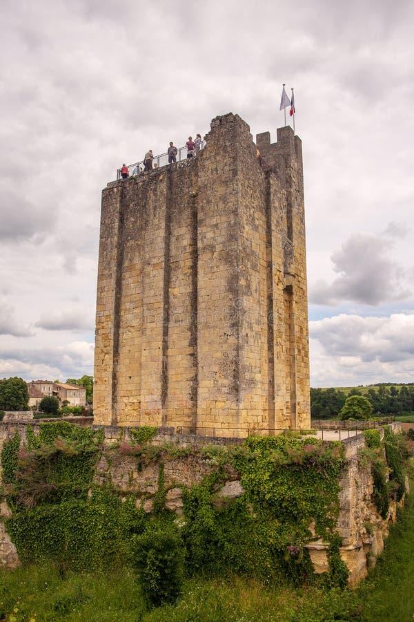 Heilige Emillion werd erkend als een Plaats van de Erfenis van de Wereld door Unesco Enkele fijnste wijngaarden van Frankrijk wor stock fotografie