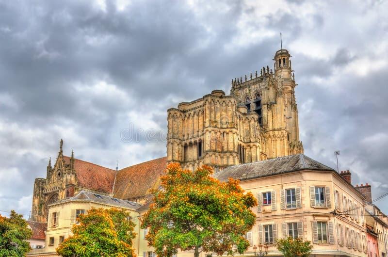 Heilige Etienne Cathedral in Sens - Frankrijk royalty-vrije stock afbeelding