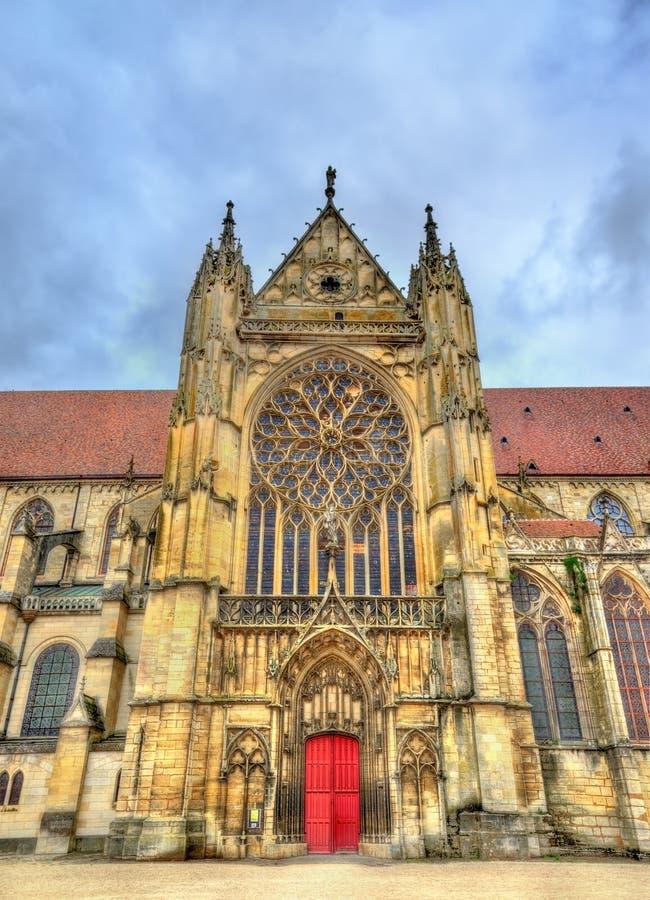 Heilige Etienne Cathedral in Sens - Frankrijk stock foto