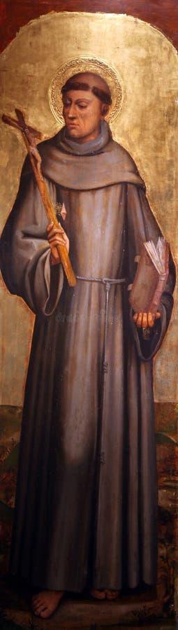 Heilige Francis van Assisi royalty-vrije stock afbeelding