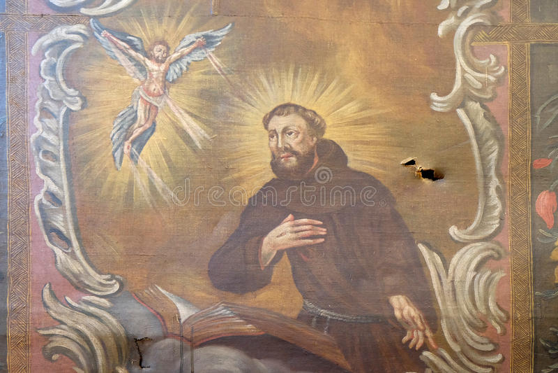 Heilige Francis van Assisi royalty-vrije stock fotografie