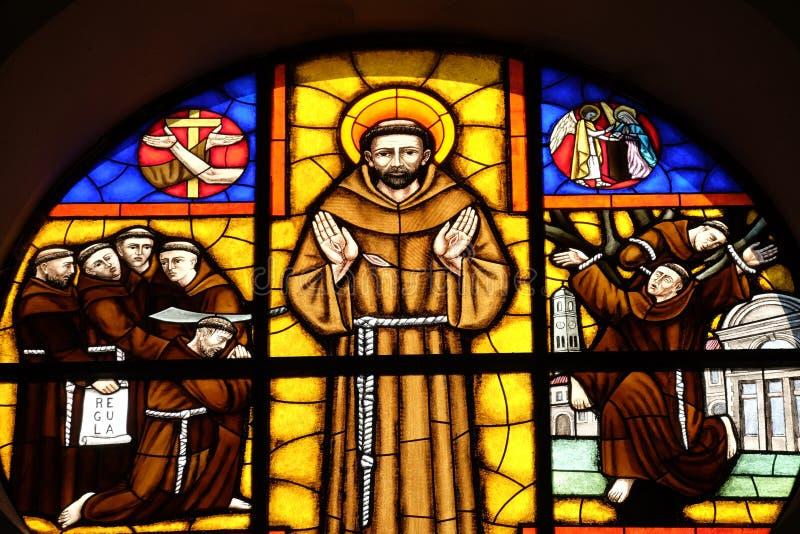 Heilige Francis van Assisi stock foto's