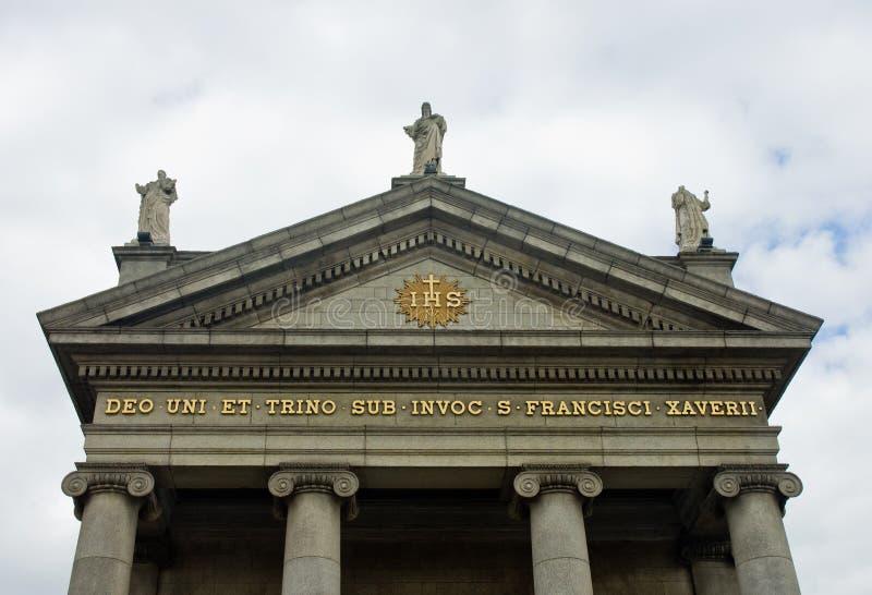 Heilige Francis Xavier Church in Dublin, Ierland royalty-vrije stock foto