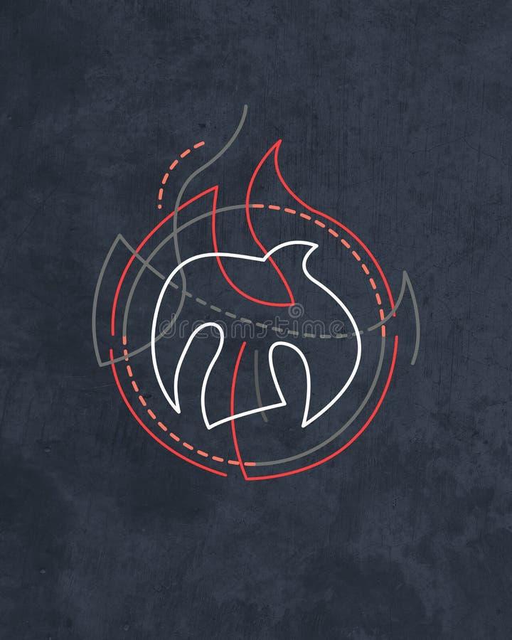 Heilige Geest godsdienstig symbool vector illustratie