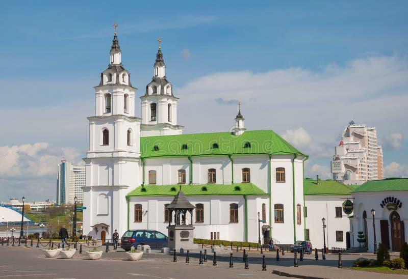 Heilige Geestkathedraal in Minsk stock foto's