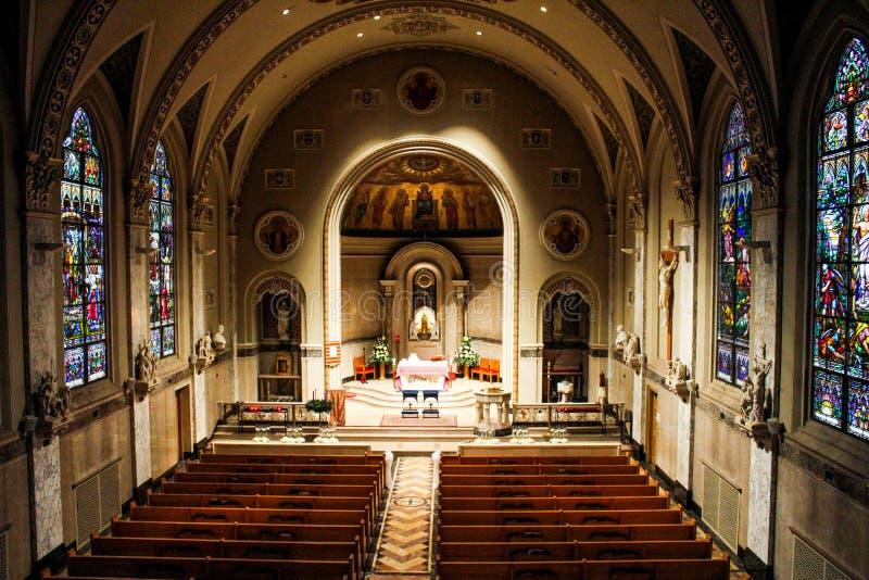 Heilige Geestkerk, Voorzienigheid, Rhode Island stock foto