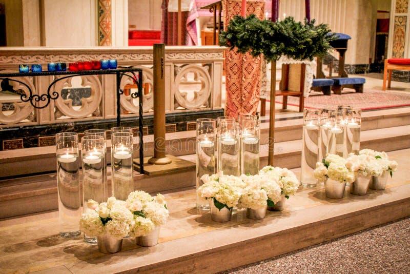 Heilige Geestkerk, Voorzienigheid, Rhode Island stock afbeelding