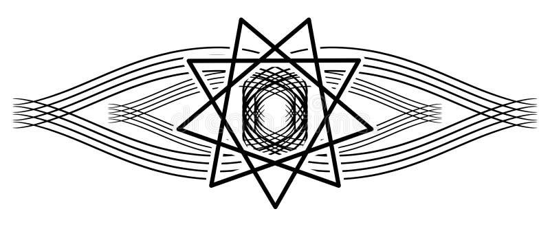 Heilige Geesttatoegering op zwarte geïsoleerde decoratie royalty-vrije illustratie