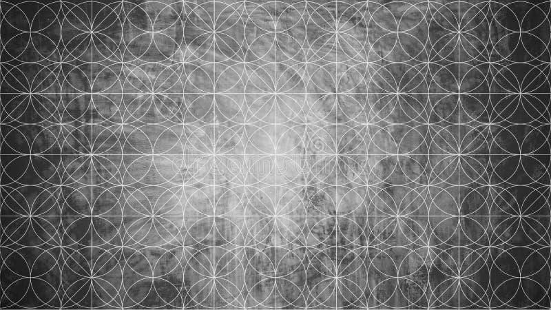 Heilige Geometrie in der Blumenmusterform vektor abbildung