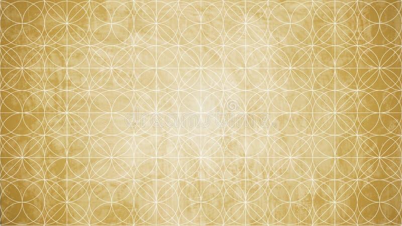 Heilige Geometrie in der Blumenmusterform stock abbildung