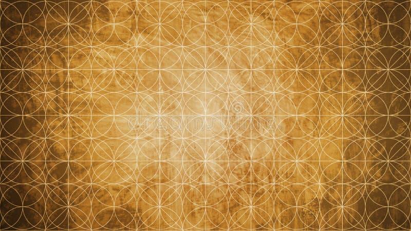 Heilige Geometrie in der Blumenmusterform lizenzfreie abbildung