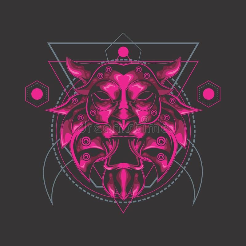Heilige Geometrie des Löwes lizenzfreie abbildung